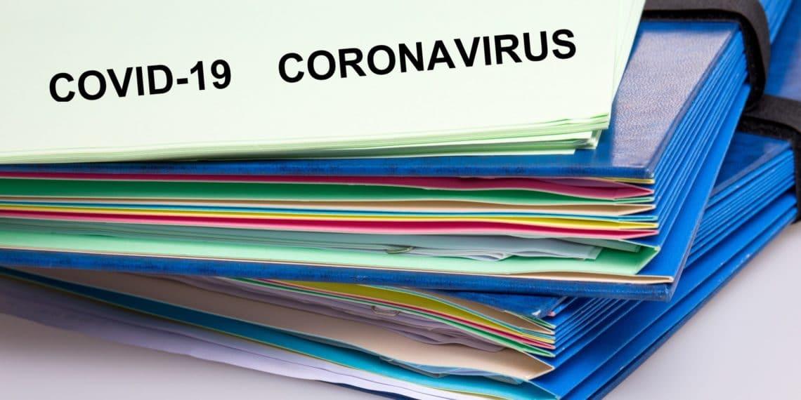 covid-19 Coronavirus paper file and scientific document of covid 19 Corona virus