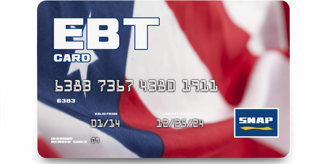 Government EBT Snap Card Isolated on White Background.