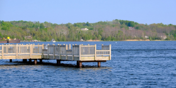 Marina on Betsie Lake at Frankfort, MI, USA