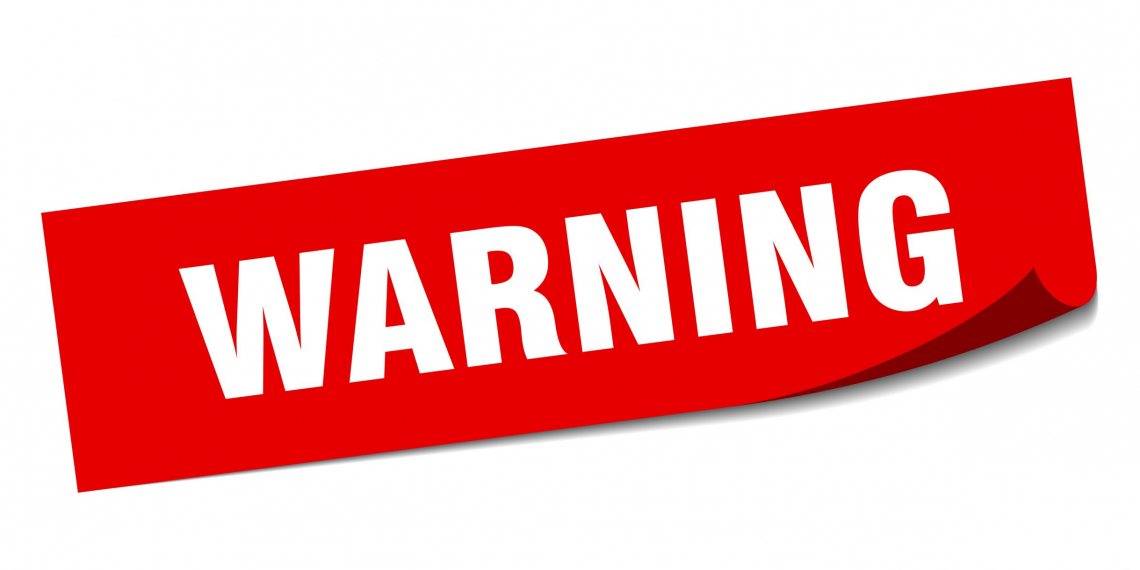 warning square sticker. warning sign. warning banner