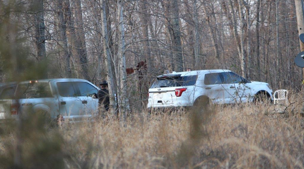 Police on site at the murder scene inside Lakewood Park.. Photos by Barry West