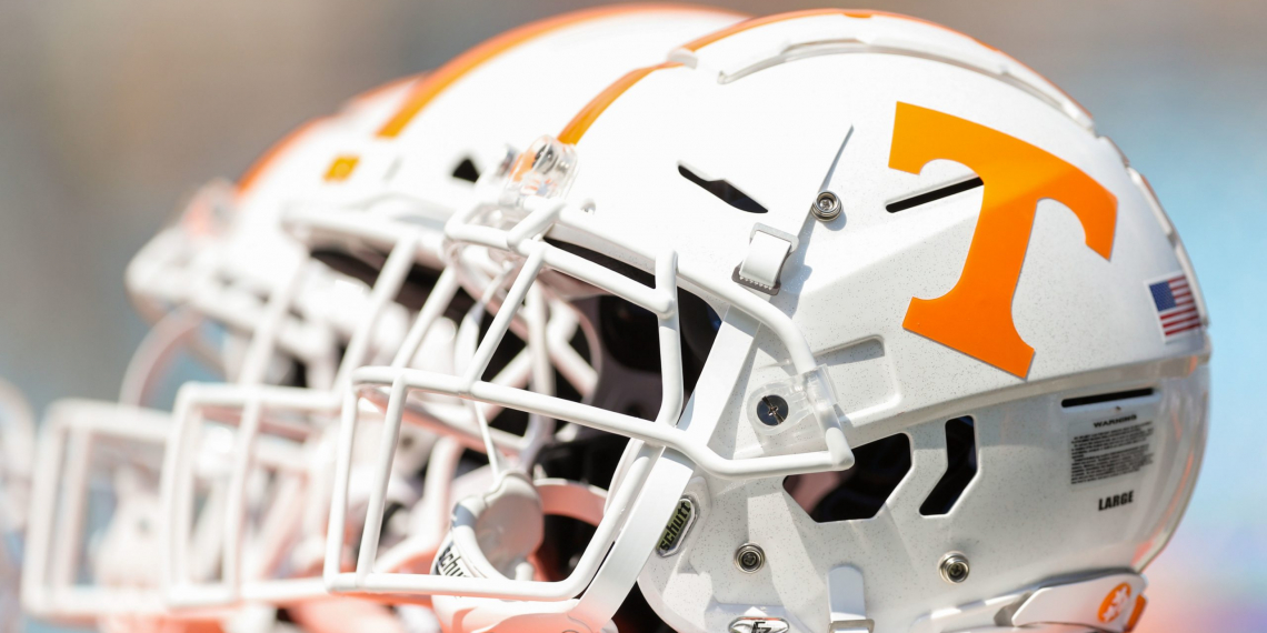 Sep 1, 2018; Charlotte, NC, USA; A Tennessee Volunteers helmet is seen pregame before the game against the West Virginia Mountaineers at Bank of America Stadium. Mandatory Credit: Ben Queen-USA TODAY Sports